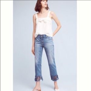 Anthropologie Fringe Jeans